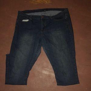 Denim wash blue jeans